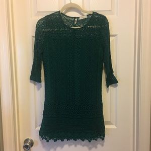 Emerald Green Everly Lace detail dress